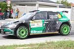 V rámci 49. ročníku Barum Czech Rally Zlín absolvovali v sobotu dopoledne jezdci rychlostní zkoušku Březová. Na snímku Jaromír Tarabus