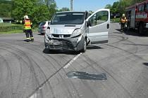 Nehoda dodávek v Biskupicích