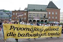 90. výročí prvomájových oslav ve Zlíně.