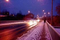 Sněžení opět komplikuje dopravu ve Zlínském kraji