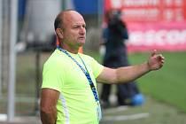 Fotbalisté Zlína (ve žlutých dresech) ve 3. kole FORTUNA:LIGY hostili Slovan Liberec. Na snímku trenér Pavel Hoftych.