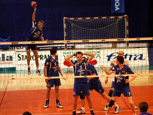 Volejbal VSC Fatra Zlín – VK Ostrava. Ilustrační foto
