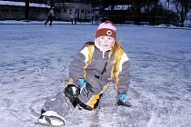 Děti i jejich rodiče se v pondělí 27. prosince 2010 nadšeně proháněli na kluzišti ve Vizovicích.