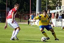 Fotbalisté Zlína ve druholigovém zápase prohráli na Viktorii Žižkov 0:1.