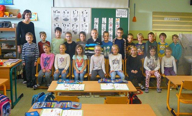Žáci 1.Aze Základní školy Luhačovice střídní učitelkou Mgr. Vendulou Mrkvičkovou.