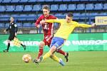 Fotbalisté Fastavu Zlín (ve žlutém) v sobotním 16. kole FORTUNA:LIGY hostili na Letné Sigmu Olomouc.