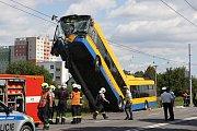 Havárie trolejbusu v Otrokovicích.