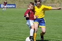 Okresní soutěž žáků, skupina A: Tečovice - Lukov (ve žlutém) 2:0