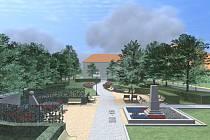 Vizualizace revitalizace severovýchodní části náměstí 3. května