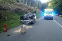 Nehoda u obce Velíková, 22.9.2020