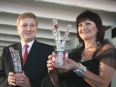 Podnikatelé roku 2008, Radomír Lapčík a Zdeňka Balajková.