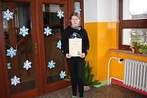 Osmačka ze ZŠ Gabry a Málinky reprezentovala školu v konverzační soutěži v němčině