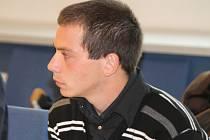 Obžalovaný Martin Machů u krajského soudu ve Zlíně