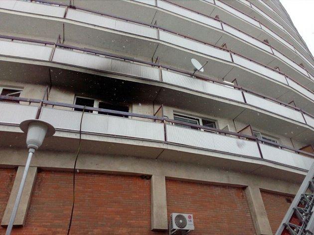 Požár bytu ve zlínském segmentu.
