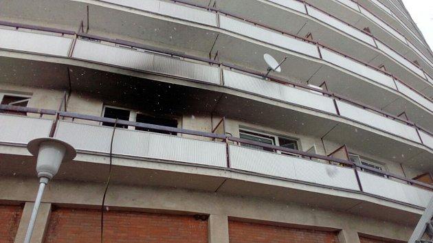 Požár bytu ve zlínském segmentu