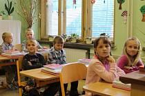 Prvňáčci ze Základní školy Bohuslavice u Zlína.