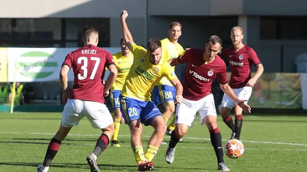 Útočník Fastavu Tomáš Wágner se proti Spartě neprosadil. Ševci prohráli se Spartou 0:2.