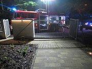 Požár altánu v Kudlově