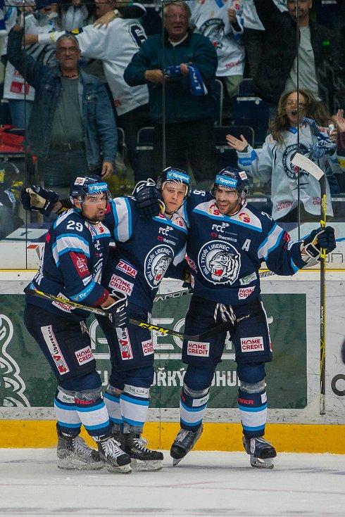 Utkání 3. kola Tipsport extraligy ledního hokeje se odehrálo 12. září v liberecké Home Credit areně. Utkaly se celky Bílí Tygři Liberec a Aukro Berani Zlín. Na snímku XX