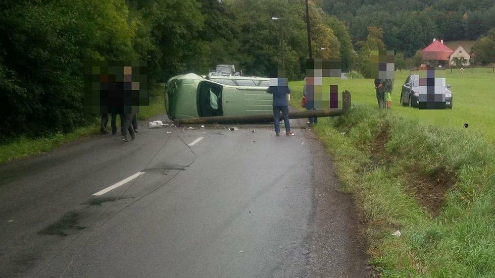 Nehoda u obce Kašava na Zlínsku, sobota, 26. září 2020