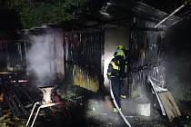 Požár přístřešku v Provodově v lokalitě Na Lhotách
