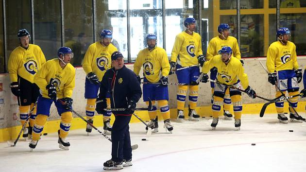 Příprava hokejistů Aukro Berani Zlín.