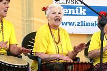 Akce Senioři umí žít naplno na náměstí Míru ve Zlíně.