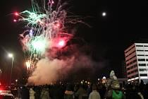 Novoroční ohňostroj ve Zlíně. Ilustrační foto