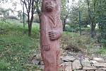 Podhradí - medvěd ze dřeva