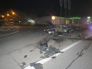 Vážná dopravní nehoda v Napajedlech.