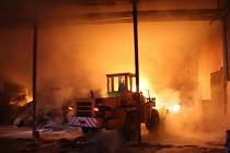 Rozsáhlý požár v Provodově