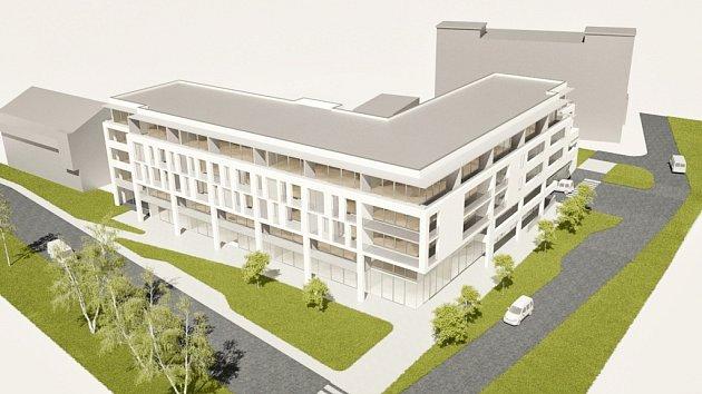 Vcentru Luhačovic roste víceúčelová budova Arkáda.