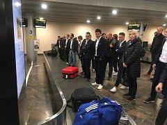 Fotbalisté Fastavu přiletěli do Moskvy.