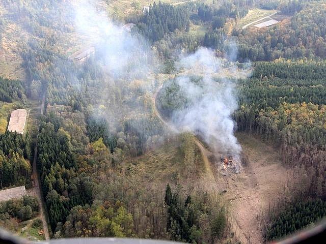 Říjen 2014. Výbuch ve Vrběticích.