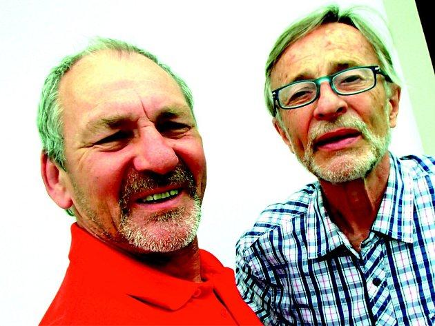 SELFÍČKO. Luděk Pavézka a Karel Dokoupil se během pár let stali významnými výtvarníky z našeho regionu. Pro filmový festival letos oba vytvořili klapku do dražby