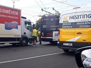 Dopravní nehoda ve Zlíně komplikuje dopravu.