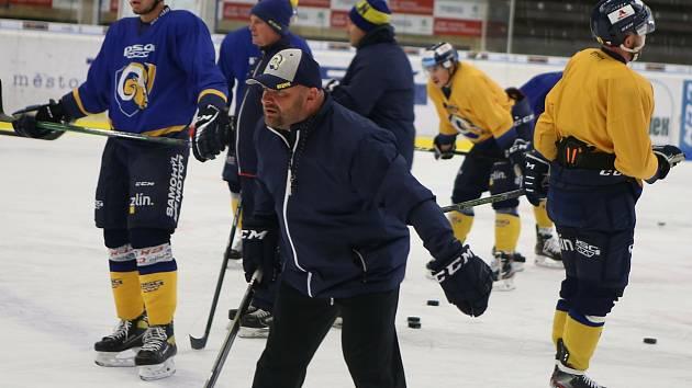 Hokejisté Zlína se ve středu připravovali pod vedením nově složeného realizačního týmu.