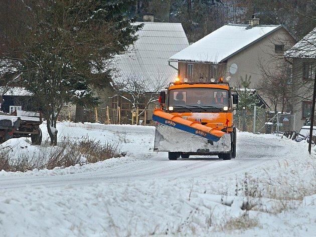 Na několika místech v kraji už sněžilo
