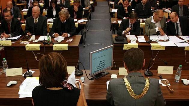 Zasedání zastupitelstva města Zlína, které do svého čela 19. listopadu jako primátora zvolilo Miroslava Adámka.