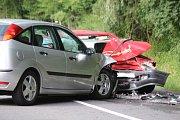 Střet dvou vozidel u Hvozdné si ve vyžádal pět zraněných