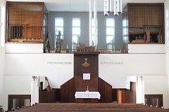 Oprava varhan ve Zlínském kostele.