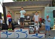 Radim Grebík v triatlonovém závodu v Majetíně 2017