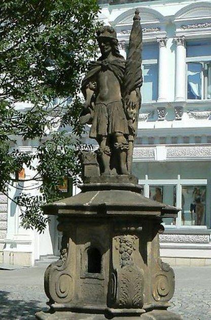 Socha svatého Donáta na náměstí Míru ve Zlíně