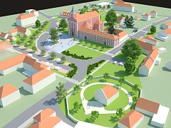 Vizualizace Mariánského náměstí ve Štípě.
