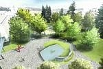 Vítěz veřejné architektonicko-krajinářské soutěže na území tzv. Divadelního parku ve Zlíně. První cenu získala místní autorská dvojice P. Krampla a R. Talaš.