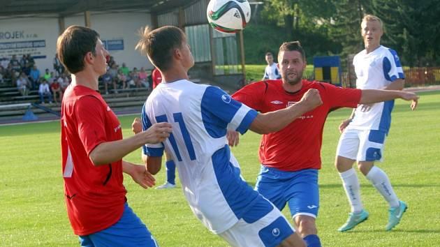 Viktorie Otrokovice v zápase se Spartakem Hulín. Ilustrační foto