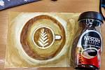 Malování kávou (Painting with coffee).