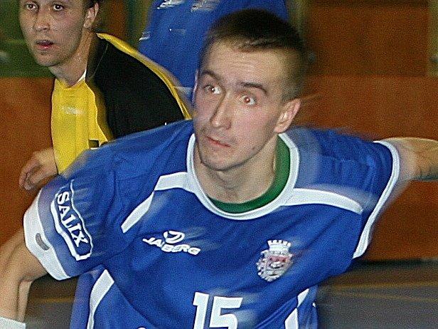Napajedelský házenkář Michal Indrák.
