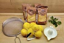 Citronový sirup s kopřivou.