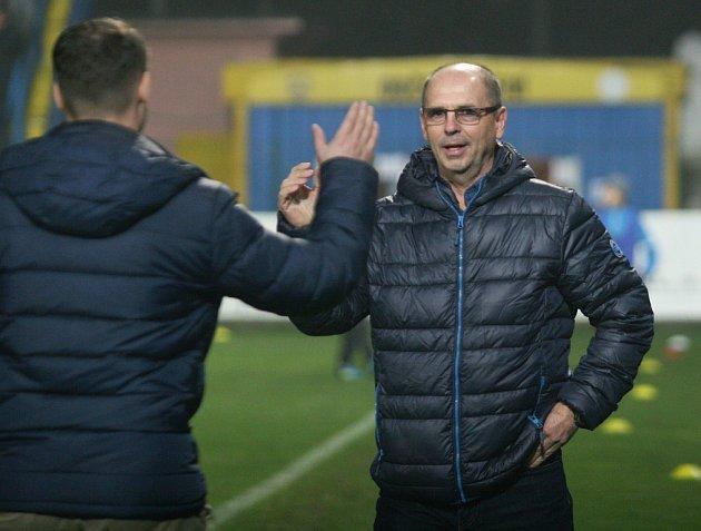 Fotbalisté Zlína. Na snímku trenér Zlína Bohumil Páník. Ilustrační foto
